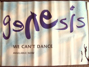 GENESIS Promotional POSTER Phil Collins  PETER GABRIEL Not Sold in Stores