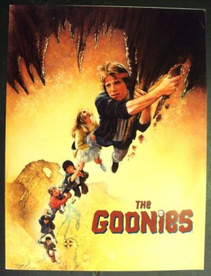 The  GOONIES  Program DREW STRUZAN Artwork JOSH BROLIN 1985 Steven Spielberg