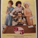 NINE TO FIVE Original ROLLED Poster  9 to 5  Dolly Parton JANE FONDA Lily Tomlin