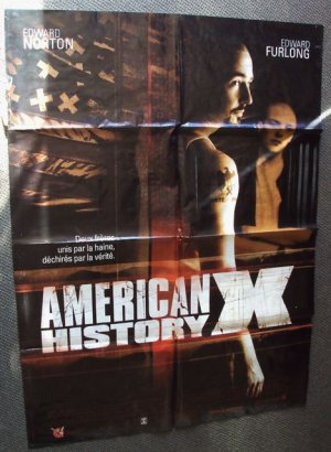 AMERICAN HISTORY X  Foreign POSTER Cult EDWARD NORTON Gang Banger L.A. War Movie