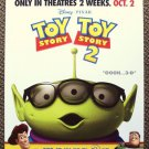 Toy Story 3-D Promotional POSTER ALIEN  with glasses Woody BUZZ LIGHTYEAR