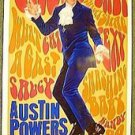 AUSTIN POWERS Original ADVANCE 1-Sheet Rolled  Movie POSTER Mike Myers GROOVY