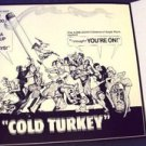 COLD TURKEY Original NORMAN LEAR Screening Program DICK VAN DYKE Tri-Fold ORIGIN