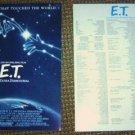 E.T. EXTRA TERRESTRIAL Screening Program ET Steven Spielberg PREMIERE 1982 Film
