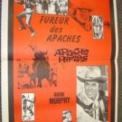 AUDIE MURPHY  French WESTERN Poster  APACHE RIFLES 1964
