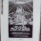 BUCK ROGERS in the 25th Century Original PRESSBOOK Press Ads GIL GERARD Orig