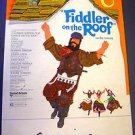 FIDDLER ON THE ROOF Original STANDEE Card TOPOL 1979 Musical Adaption Film