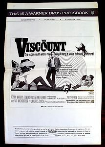 KERWIN MATHEWS The VISCOUNT Pressbook James Bond Type Agent All ORIGINAL