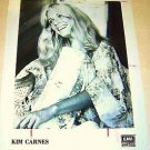 KIM CARNES Original Studio Music Label PROMO Photo BETTE DAVIS EYES