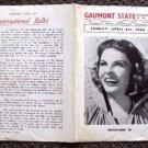 MARTHA RAYE  Original 1948 Europe Luxury Theatre Program GAUMONT STATE