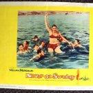 NEVER ON SUNDAY Lobby Card MELINA MERCOURI Bikini 1961  in a pool with men!