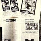ISLAND OF DR. MOREAU Ad Campaign PHOTO PRESSBOOK Michael York BARBARA CARRERA 77