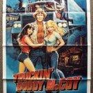 TRUCKIN' BUDDY McCOY Original 1-Sheet Movie POSTER Terence Knox CB RADIO  1984
