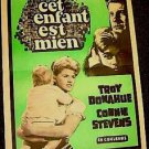 TROY DONAHUE Connie Stevens SUSAN SLADE Original FRENCH Poster Montreal Canada