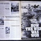 HOW THE WEST WAS WON Original PRESSBOOK Carroll Baker HENRY FONDA John Ford
