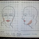 JIM DAVIS Original Make-up Chart WARNER BROS Studios WINTER KILLS Dallas Jock