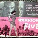WARRIORS FIVE Original Photo  Pressbook JACK PALANCE Sexy ANNA RALLI  1962
