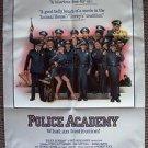 POLICE ACADEMY Promo Poster DREW STRUZAN Art KIM CATTRALL Steve Guttenberg COPS