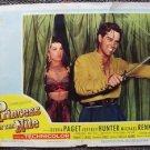 PRINCESS OF NILE  Original Lobby Card DEBRA PAGET Jeffrey Hunter TECHNICOLOR '54