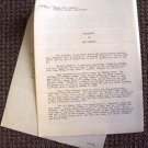 VAN JOHNSON Original WARNER BROS. Studios BIOGRAPHY Document 60 YEARS OLD!!!