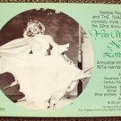 RITA HAYWORTH Original DEBBIE REYNOLDS Invitation  RSVP Great PHOTO Image