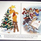 WINNIE the POOH Original CHRISTMAS Disney Studios PHOTO WALT DISNEY Disneyland