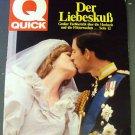 PRINCESS DIANA Original ROYAL WEDDING Magazine Q QUICK German Issue FOREIGN 1981