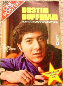 DUSTIN HOFFMAN Giant SPANISH Color Photo POSTER Souvenir MAGAZINE All Devoted