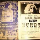 HARLOW Original Photo PRESSBOOK Jean CARROLL BAKER 1965 GOLD FOIL Cover