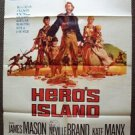 HERO'S ISLAND Original 1-Sheet Movie  POSTER James Mason RIP TORN Neville Brand