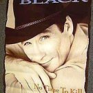 CLINT BLACK Original PROMO Country Western MUSIC Poster Cowboy Stetson Hunk