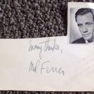 MEL FERRER   Original  SIGNED in  PERSON  Autograph Index Card