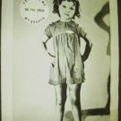 SHIRLEY TEMPLE Original Promo POSTER Vote for Me or I'll Hold My Breath Girl