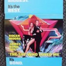 JAMES BOND 007 The SPY WHO LOVED ME Original Tr-Fold  PROGRAM Roger Moore Art