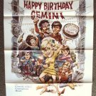 Happy Birthday, Gemini  JACK DAVIS Art ORIGINAL 1-Sheet Poster MADELINE KAHN