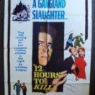 BARBARA EDEN  Twelve Hours to KILL ORIGINAL 1-Sheet Movie Poster 12 VINTAGE