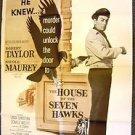 ROBERT TAYLOR The HOUSE OF SEVEN HAWKS Film-Noir 1-Sheet POSTER Original