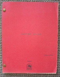 KEN TREVEY Unmade ORIGINAL 20th Century Fox SCRIPT Hoover Blues 1974 Twentieth