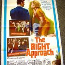 JULIET PROWSE The RIGHT APPROACH Original 1-Sheet Movie Poster MARTHA HYER 1961