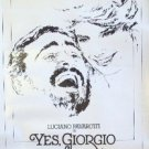 YES, GIORGIO Original PROMOTIONAL Poster KATHRYN HARROLD Luciano Pavarotti 1982