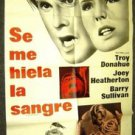 TROY DONAHUE Joey Heatherton MY BLOOD RUNS COLD 1-Sheet Poster ORIGINAL Thriller