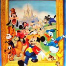 DISNEY Poster MICKEY MOUSE Minnie GOOFY Chip n Dale THREE LITTLE PIGS Pluto WOLF