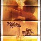 Last Tango in Paris  MARLON BRANDO 1-Sheet POSTER 1982 Maria Schneider