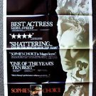 SOPHIE'S CHOICE Original 1-Sheet Movie Poster MERYL STREEP Oscar Academy Award