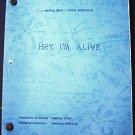 HEY, I'M ALIVE  Original SCRIPT Sally Struthers EDWARD ASNER Survival Plane  Ed