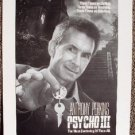 PSYCHO III Unique CONCEPT Artwork for Poster ANTHONY PERKINS 3 1986 Norman Bates