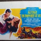 GONE WITH THE WIND Belgium POSTER Vivien Leigh CLARK GABLE  Repro STUNNING ART!!