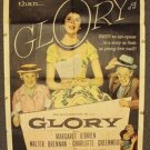 MARGARET O'BRIEN  Original GLORY Movie 1-Sheet POSTER