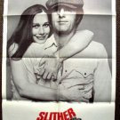 SLITHER Original  M.G.M Sally Kellerman JAMES CAAN 1-Sheet Movie POSTER 1973