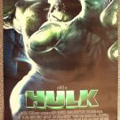 HULK Double Sided POSTER Eric Bana The INCREDIBLE Hulk Marvel Super Hero GREEN